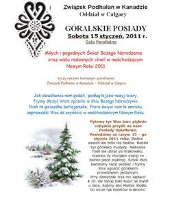 Posiady góralskie 2011